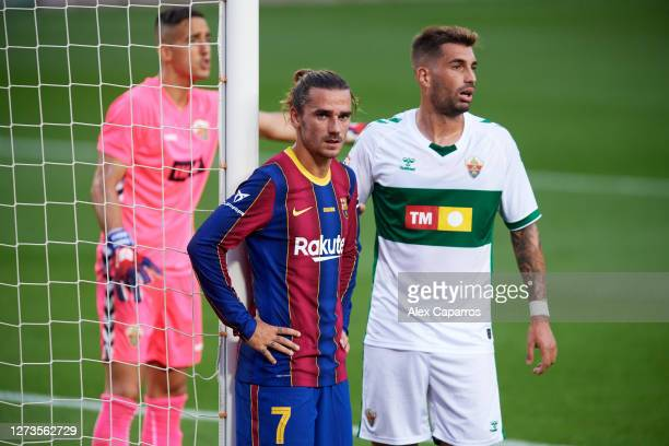 Antoine Griezmann of FC Barcelona looks on during the Joan Gamper Trophy match between FC Barcelona and Elche CF on September 19 2020 in Barcelona...