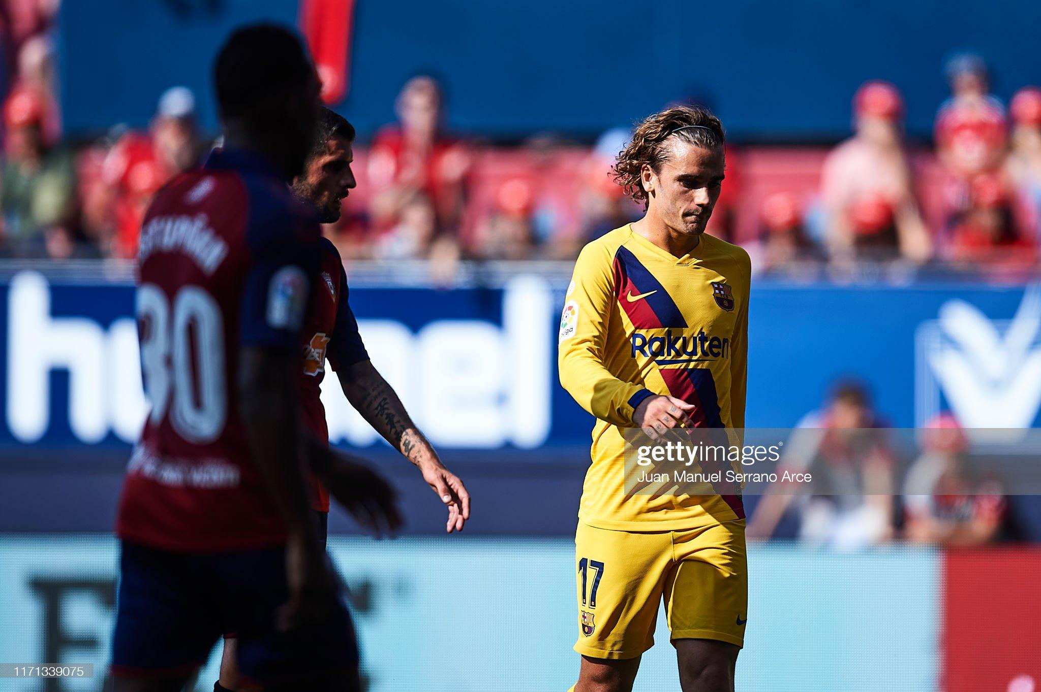 صور مباراة : أوساسونا - برشلونة 2-2 ( 31-08-2019 )  Antoine-griezmann-of-fc-barcelona-reacts-during-the-liga-match-ca-picture-id1171339075?s=2048x2048