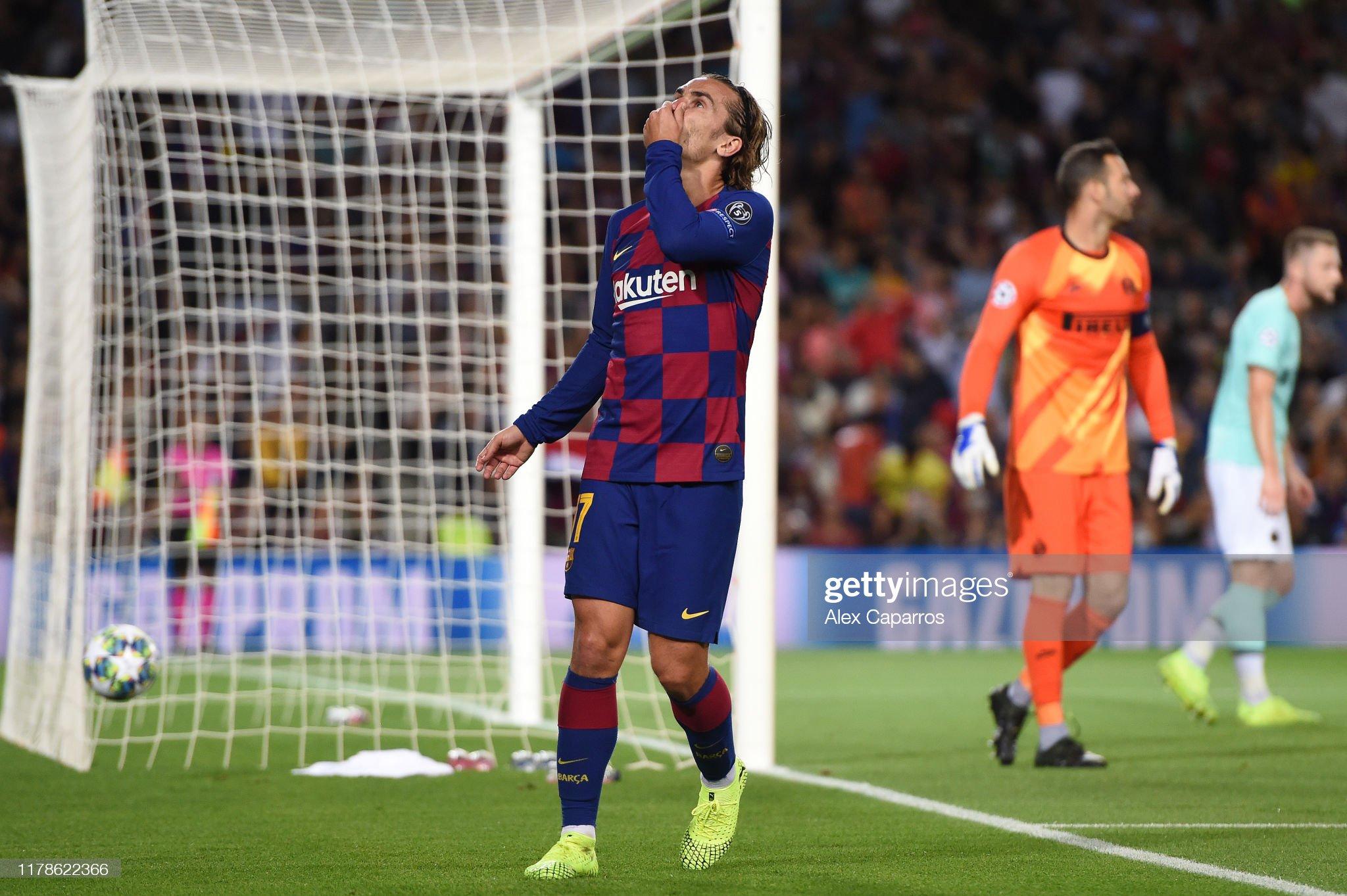 صور مباراة : برشلونة - إنتر 2-1 ( 02-10-2019 )  Antoine-griezmann-of-fc-barcelona-reacts-during-the-uefa-champions-picture-id1178622366?s=2048x2048