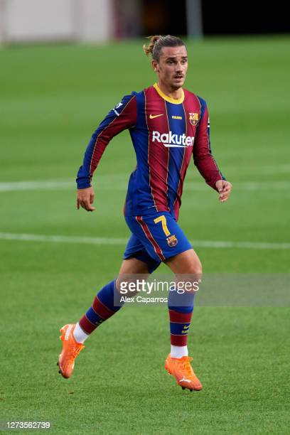 Antoine Griezmann of FC Barcelona runs during the Joan Gamper Trophy match between FC Barcelona and Elche CF on September 19 2020 in Barcelona Spain
