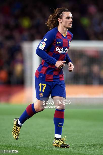 Antoine Griezmann of FC Barcelona runs during the Liga match between FC Barcelona and Real Sociedad at Camp Nou on March 07 2020 in Barcelona Spain