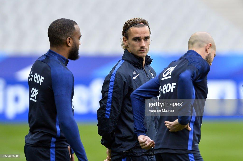 France Soccer team Training Session Prior the France v Belarus - FIFA 2018 World Cup Qualifier
