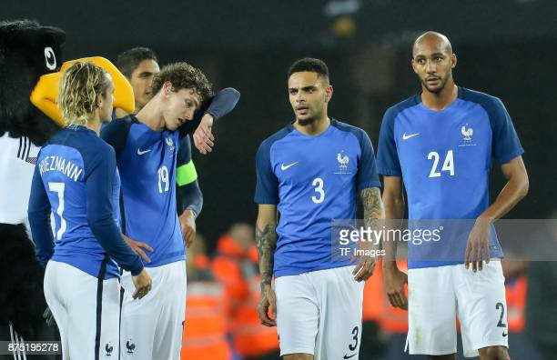Antoine Griezmann of France Benjamin Pavard of France Layvin Kurzawa of France Steven N'Zonzi of France looks dejected after the International...
