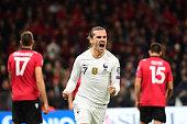antoine griezmann france celebrates after putting