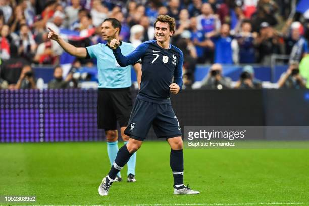 Antoine Griezmann of France celebrates his goal during the UEFA Nations League A group one match between France and Germany at Stade de France on...