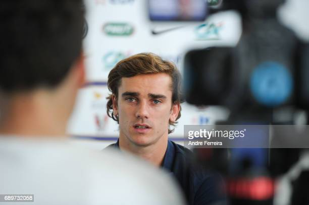 Antoine Griezmann of France during an interview at Centre National du Football on May 29 2017 in Clairefontaine France