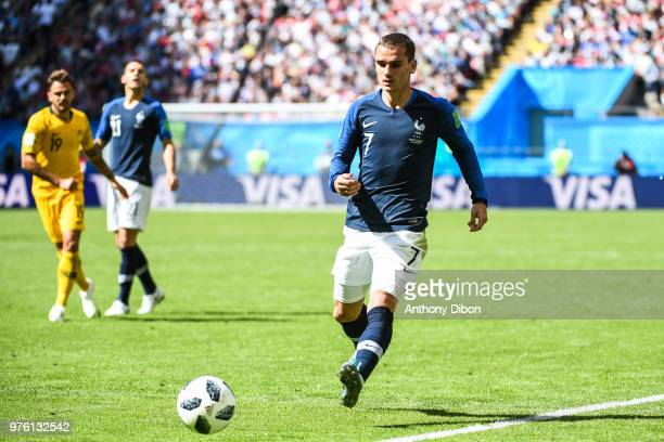 Antoine Griezmann of France during the 2018 FIFA World Cup Russia group C match between France and Australia at Kazan Arena on June 16 2018 in Kazan...