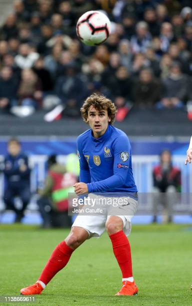 Antoine Griezmann of France during the 2020 UEFA European Championships group H qualifying match between France and Iceland at Stade de France on...