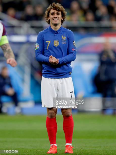 Antoine Griezmann of France during the EURO Qualifier match between France v Iceland at the Stade de France on March 25 2019 in Paris France