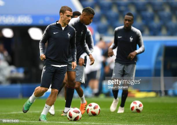 Antoine Griezmann of France during the France Training Session at Saint Petersburg Stadium on July 9 2018 in Saint Petersburg Russia