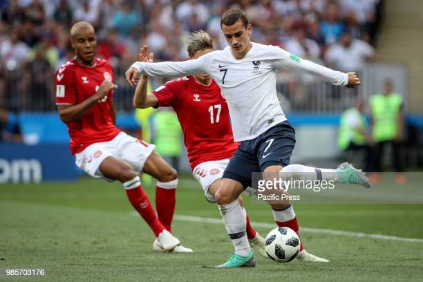 Antoine Griezmann of France during the game between Denmark and France valid for the third round of group C of the 2018 World Cup held in Luzhniki...