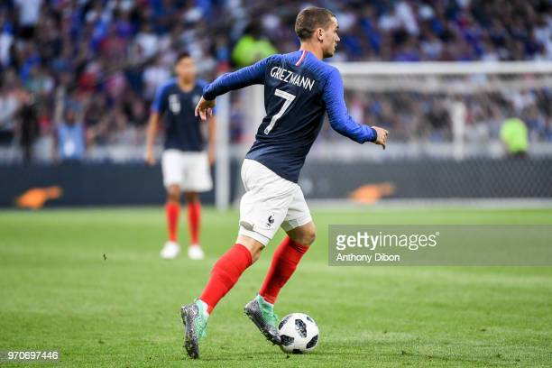 Antoine Griezmann of France during the International Friendly match between France and United States at Groupama Stadium on June 9 2018 in Lyon France