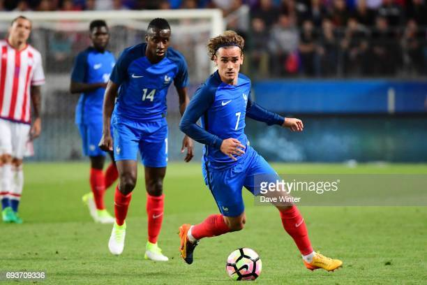 Antoine Griezmann of France during the soccer friendly match between France and Paraguay at Roazhon Park on June 2 2017 in Rennes France