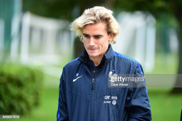 Antoine Griezmann of France during the training session at Centre National du Football on October 2 2017 in Clairefontaine en Yvelines France