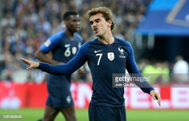 Antoine Griezmann of France during the UEFA Nations League A group one match between France and Germany at Stade de France on October 16 2018 in...