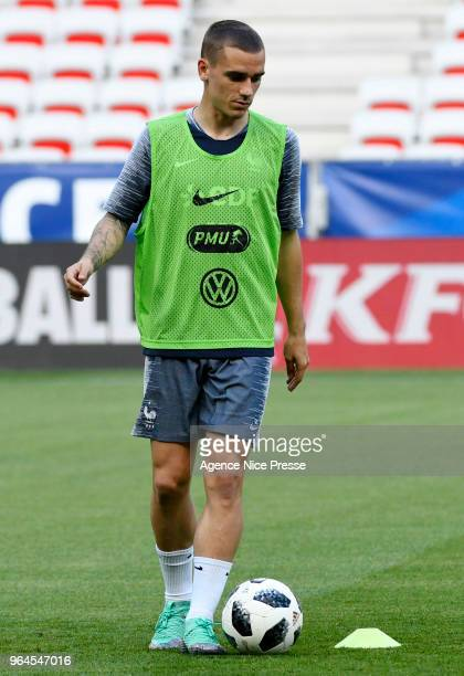 Antoine Griezmann of France during training session of French National Team at Allianz Riviera Stadium on May 31 2018 in Nice France