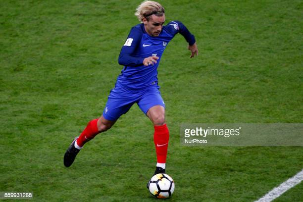 Antoine Griezmann of France in action during the Fifa 2018 World Cup qualifying match between France and Belarus on October 10 2017 in Paris France