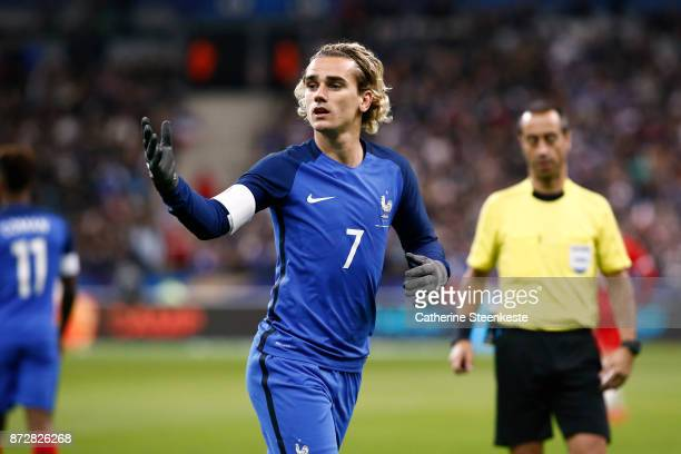 Antoine Griezmann of France looks on during the international friendly match between France and Wales at Stade de France on November 10 2017 in Paris...