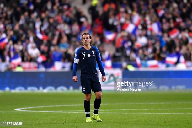 Antoine Griezmann of France looks on during the UEFA Euro 2020 Qualifier between France and Moldova on November 14 2019 in Paris France