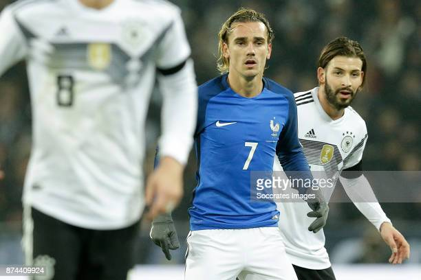 Antoine Griezmann of France Marvin Plattenhardt of Germany during the International Friendly match between Germany v France at the RheinEnergie...
