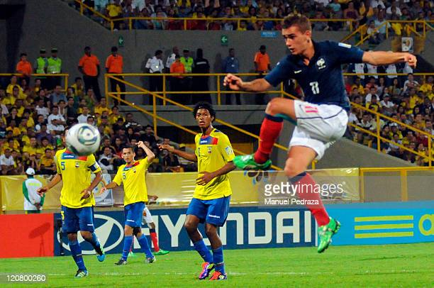 Antoine Griezmann of France score a goal against Ecuador during the World Under 20 World Cup at the Estadium Jaime Moron Leon the 10 of August 2011...