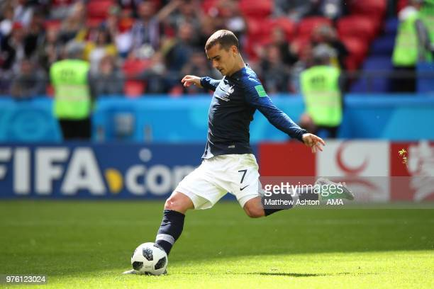 Antoine Griezmann of France scores a goal to make it 10 during the 2018 FIFA World Cup Russia group C match between France and Australia at Kazan...