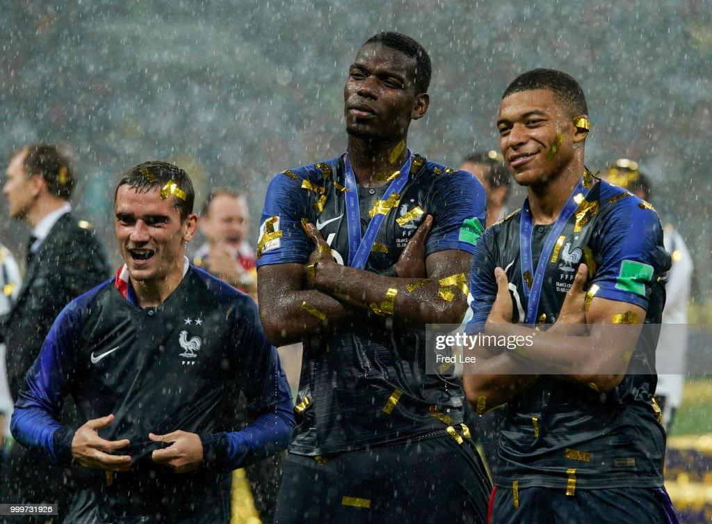 France v Croatia - 2018 FIFA World Cup Russia Final : Photo d'actualité