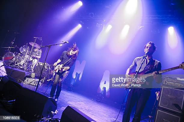 Antoine Hilaire and Florent Lyonnet from Jamaica performs at L'Alhambra on February 8 2011 in Paris France