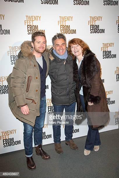 Antoine Holtz Gerard Holtz and Murielle Mayette attend the 'Twenty feet from stardom' Paris premiere at Cinema UGC Normandie on November 18 2013 in...
