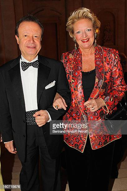 Antoine Khairallah and Princess Beatrice of BourbonTwo Sicilies attend the gala dinner of Professor David Khayat's association 'AVEC' at Chateau de...