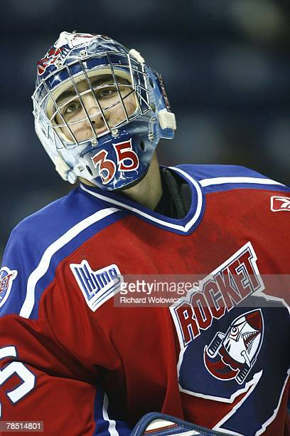Antoine Lafleur of the P.E.I Rocket skates during the warm-up session prior to facing the Quebec City Remparts at Colisee Pepsi on December 15, 2007...