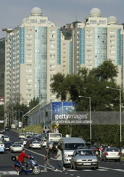 Antoine LAMBROSCHINI Picture taken 12 August 2007 shows a general street scene in Almaty Positioned midway between Russia and China Kazakhstan has...
