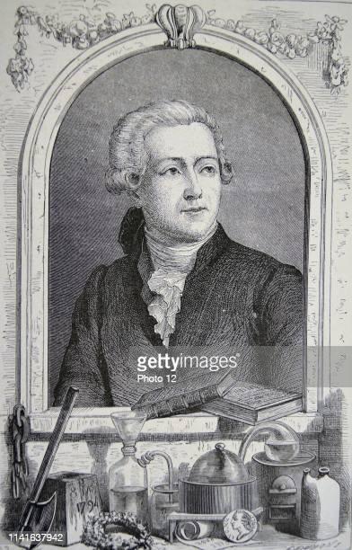 Antoine Laurent Lavoisier French chemist 'the father of modern chemistry' Engraving Paris 1874