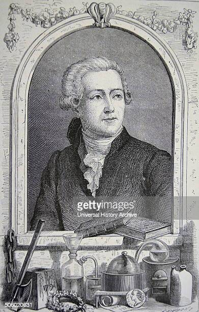 Antoine Laurent Lavoisier French chemist 'the father of modern chemistry' Engraving Paris 1874 Photo by