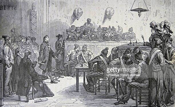 Antoine Laurent Lavoisier French chemist 'the father of modern chemistry' with other fermier generaux before the French Revolutionary Tribunal...