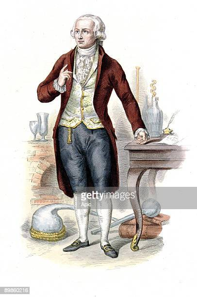 Antoine Laurent Lavoisier french scientist and politician he was guillotined during the French Revolution engraving