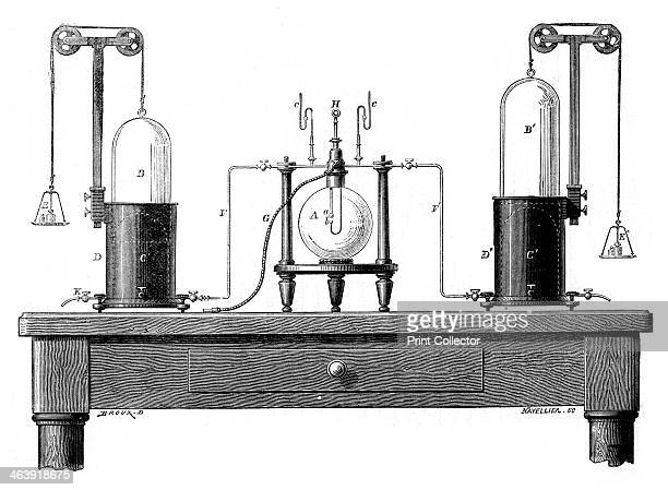 Antoine Lavoisier's apparatus for synthesizing water from hydrogen and oxygen 1881 The discoverer of oxygen French chemist Antoine Laurent Lavoisier...