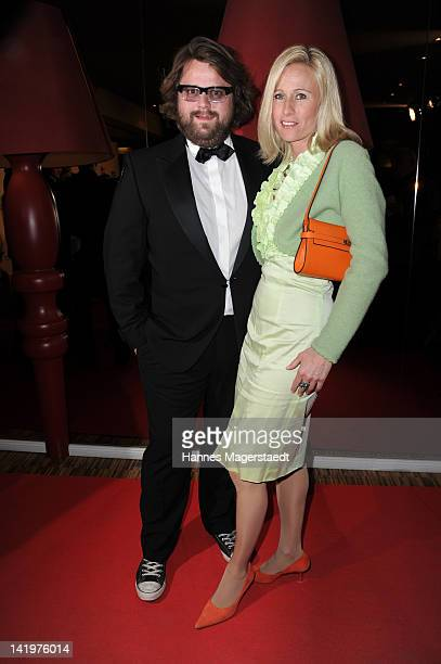 Antoine Monot and Stefanie Sick van Hees attend the CNN Journalist Award 2012 at the GOP Variete Theater on March 27, 2012 in Munich, Germany.
