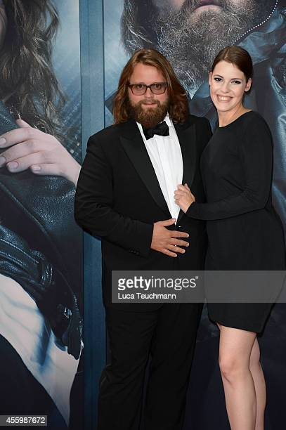 Antoine Monot Jr and Anna attend the premiere of the film 'Who am I' at Zoo Palast on September 23 2014 in Berlin Germany