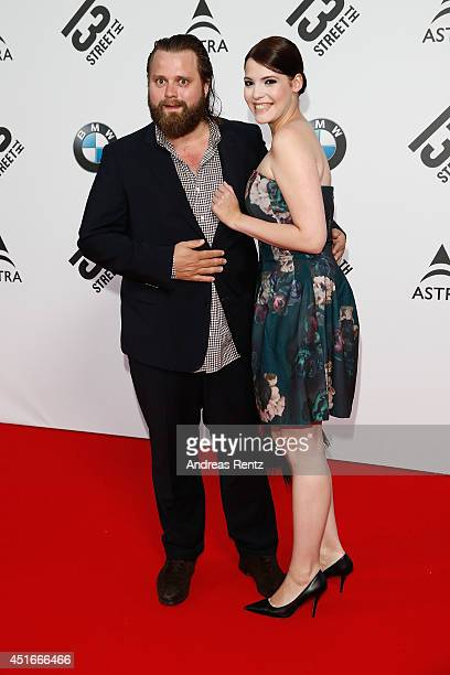 Antoine Monot jr and girlfriend Anna attend the Shocking Shorts Award 2014 at Amerika Haus on July 3 2014 in Munich Germany