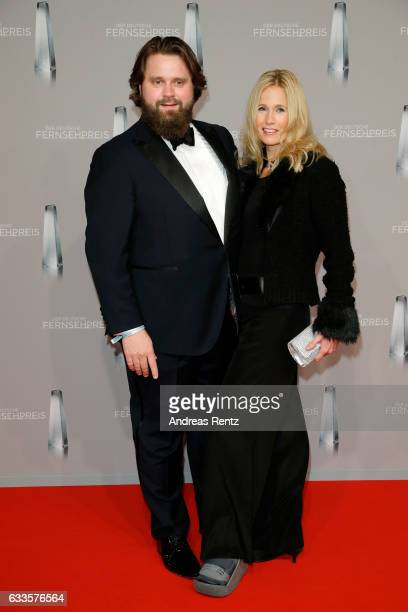 Antoine Monot Jr and his girlfriend Stefanie Sick attend the German Television Award at Rheinterrasse on February 2 2017 in Duesseldorf Germany