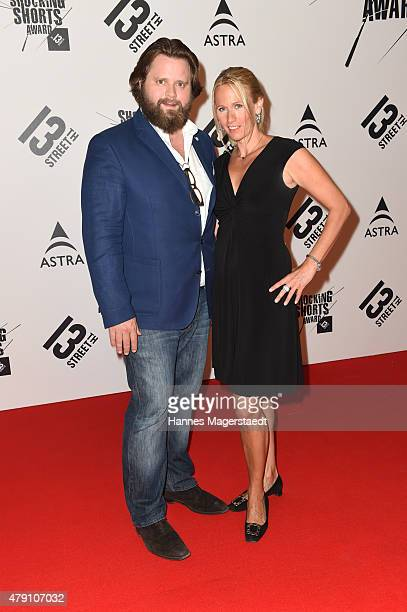 Antoine Monot jr and Stefanie Sick attend the Shocking Shorts Award 2015 during the Munich Film Festival on June 30 2015 in Munich Germany