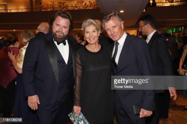 """Antoine Monot Jr., Christine Mayn and Nick Wilder during the """"Nacht der Schmetterlinge Charity-Gala zugunsten der Deutschen Muskelschwund-Hilfe e...."""