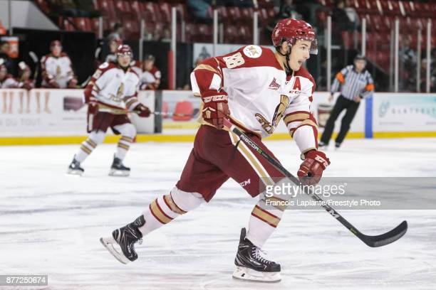 Antoine Morand of the AcadieBathurst Titan skates against the Gatineau Olympiques on October 18 2017 at Robert Guertin Arena in Gatineau Quebec Canada