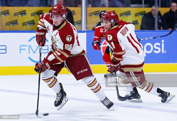 Antoine Morand of the Acadie-Bathurst Titan skates during his QMJHL hockey game at the Centre Videotron on November 9, 2016 in Quebec City, Quebec,...