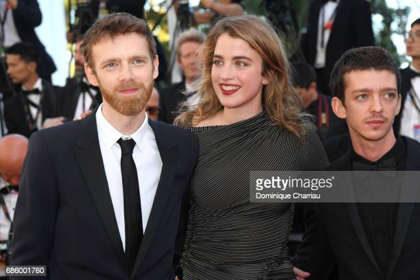 Antoine Reinartz Adele Haenel and Felix Maritaud attend the '120 Beats Per Minute ' screening during the 70th annual Cannes Film Festival at Palais...