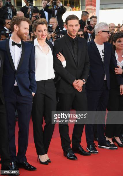 Antoine Reinartz Adele Haenel Arnaud Valois and director Robin Campillo attend the Closing Ceremony of the 70th annual Cannes Film Festival at Palais...