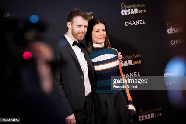 Antoine Reinartz and Marina Fois attend the 'Cesar Revelations 2018' party at Le Petit Palais on January 15 2018 in Paris France