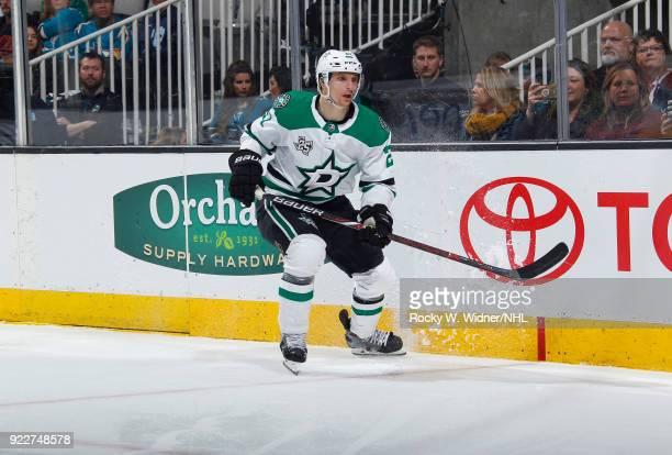 Antoine Roussel of the Dallas Stars skates against the San Jose Sharks at SAP Center on February 18 2018 in San Jose California