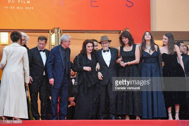 Antoine Sire Claude Lelouch Anouk Aimee JeanLouis Trintignant Marianne Denicourt Monica Bellucci and Tess Lauvergne attend the screening of Les Plus...